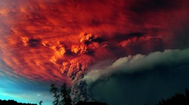 4K Eruption Of Volcano Photo Free