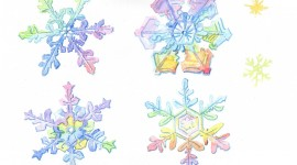 Colorful Snowflakes Aircraft Picture
