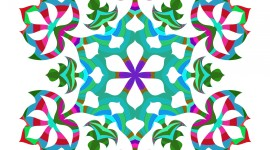 Colorful Snowflakes Image