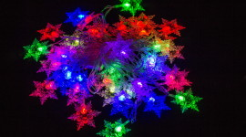 Colorful Snowflakes Wallpaper For PC