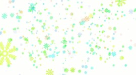 Colorful Snowflakes Wallpaper Full HD