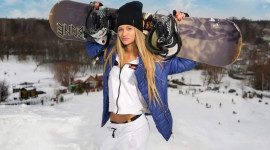 Girl Snowboard Aircraft Picture