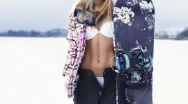 Girl Snowboard Image