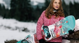 Girl Snowboard Photo