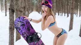 Girl Snowboard Photo Free