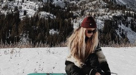 Girl Snowboard Wallpaper For Android#1