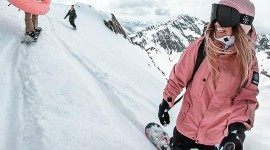 Girl Snowboard Wallpaper For Android#2