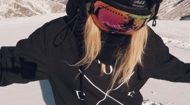 Girl Snowboard Wallpaper For IPhone#2