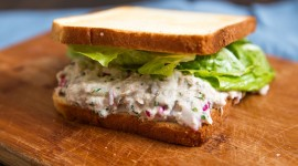 Sandwich With Red Fish High Quality Wallpaper