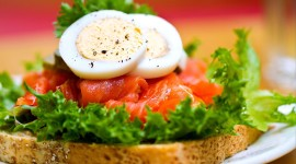 Sandwich With Red Fish Wallpaper