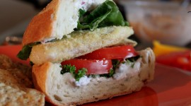 Sandwich With Red Fish Wallpaper For Desktop