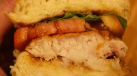 Sandwich With Red Fish Wallpaper For IPhone Download