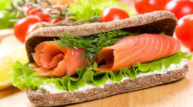 Sandwich With Red Fish Wallpaper For PC