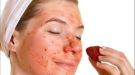 Strawberry Mask Desktop Wallpaper