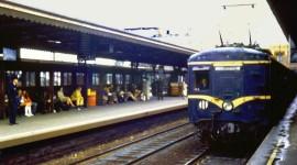 Suburban Electric Train Desktop Wallpaper