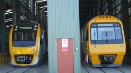 Suburban Electric Train Wallpaper Background