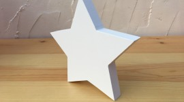 Wooden Star Desktop Wallpaper