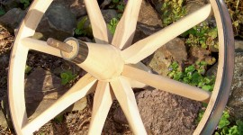 Wooden Wheel Wallpaper For Android#1