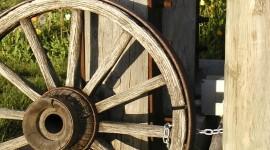 Wooden Wheel Wallpaper For IPhone
