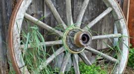 Wooden Wheel Wallpaper For IPhone#1