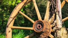 Wooden Wheel Wallpaper Full HD