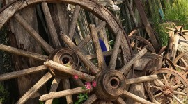Wooden Wheel Wallpaper HQ