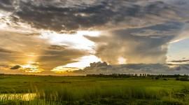 4K Dawn Field Photo