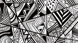 Black And White Abstracts Image