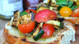 Bruschetta With Grilled Zucchini Image