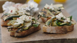 Bruschetta With Grilled Zucchini Image#1