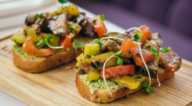 Bruschetta With Grilled Zucchini Photo