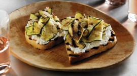 Bruschetta With Grilled Zucchini Wallpaper
