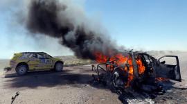 Burning Car Desktop Wallpaper