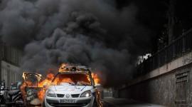 Burning Car Desktop Wallpaper For PC