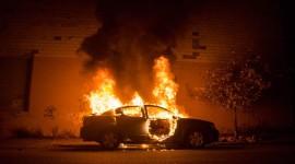 Burning Car Wallpaper 1080p