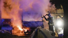 Burning Car Wallpaper HQ