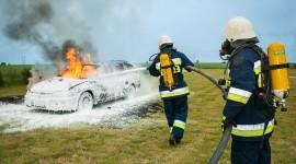 Burning Car Wallpaper High Definition