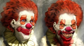 Evil Clown Desktop Wallpaper HQ