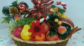 Fruit Gift Basket Desktop Wallpaper HD