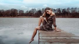Girl Model Bridge Image Download