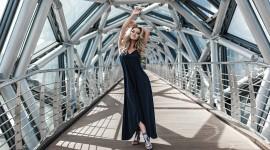 Girl Model Bridge Photo
