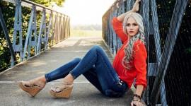 Girl Model Bridge Photo Download
