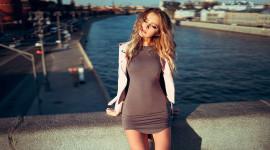Girl Model Bridge Wallpaper 1080p