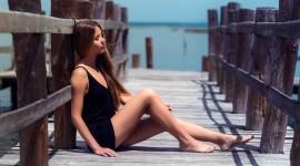 Girl Model Bridge Wallpaper Download