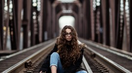 Girl Model Bridge Wallpaper For IPhone