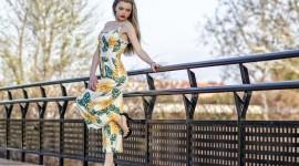 Girl Model Bridge Wallpaper Free