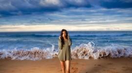 Girl Wave Model Wallpaper Free