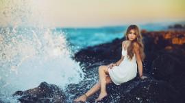 Girl Wave Model Wallpaper Full HD