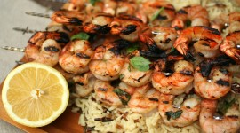 Grilled Shrimp Wallpaper Download Free
