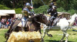 Jousting Knight Wallpaper Background